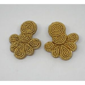 J. Crew Gold Beaded Earrings